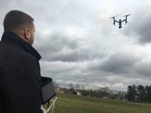 Nick Flies his drone